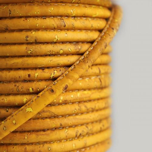 Fio de Cortiça 4mm - Amarelo