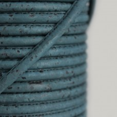 Fio de Cortiça 4mm - Azul