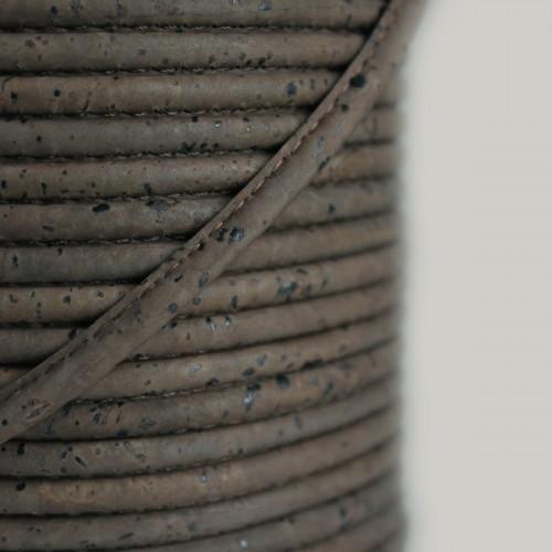 Fio de Cortiça 4mm - Castanho