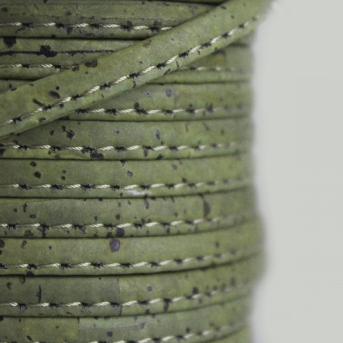 Fio de Cortiça 6mm - Verde