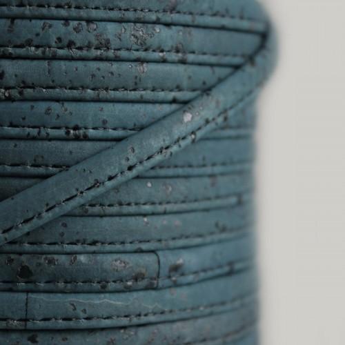 Fio de Cortiça 6mm - Azul