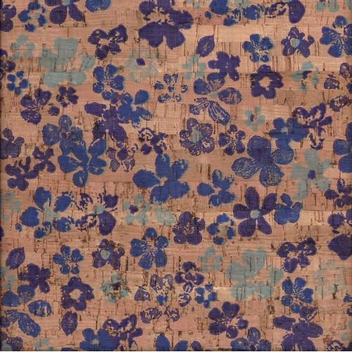 Tela de Cortiça - Flor Azul