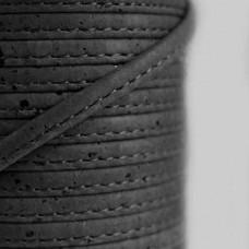 Fio de Cortiça 6mm - Preto