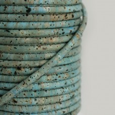 Fio de Cortiça 4mm - Azul Cinza