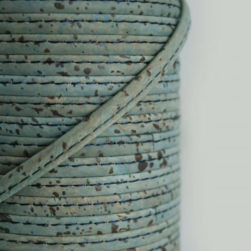 Fio de Cortiça 6mm - Azul Cinza