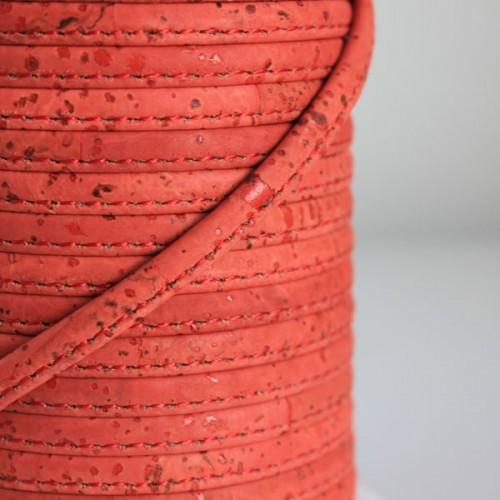 Fio de Cortiça 6mm - Vermelho